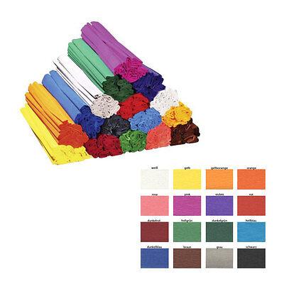 (0,17€/m) Krepp-Papier, 10 Rollen pro Farbe, a 2,5 m x  50 cm,  freie Farbwahl