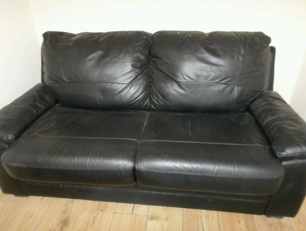 leather sofa bed with sprung mattress clack single recling chair and purchase sale