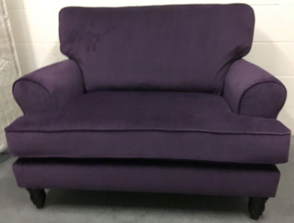 plum sofas uk modern sleeper sofa vancouver next austell 2 seater love seat plush velvet dark new rrp 599