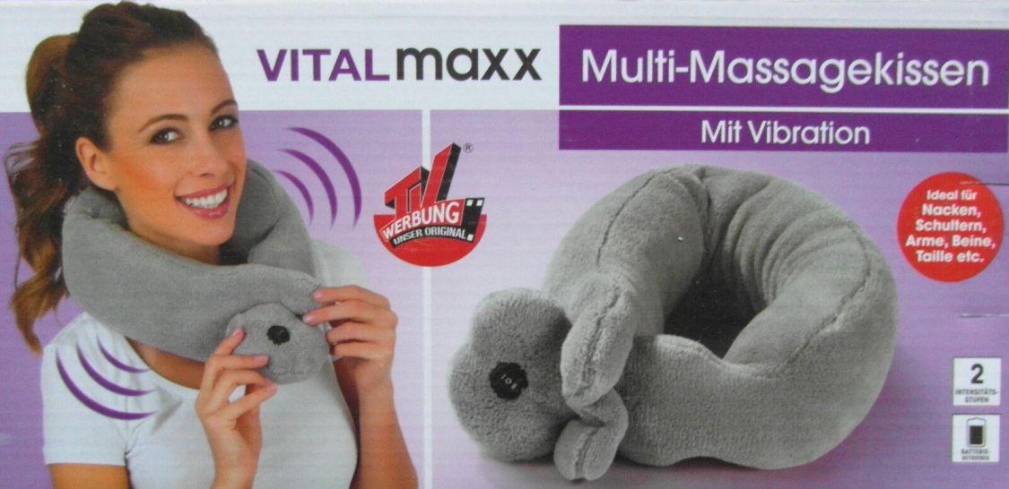 Vitalmaxx Multi Massagekissen Mit Vibration Ideal für Nacken & Schulter Neu