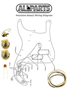 New Precision Bass Pots Wire Amp Wiring Kit for Fender P Bass Guitar Diagram | eBay