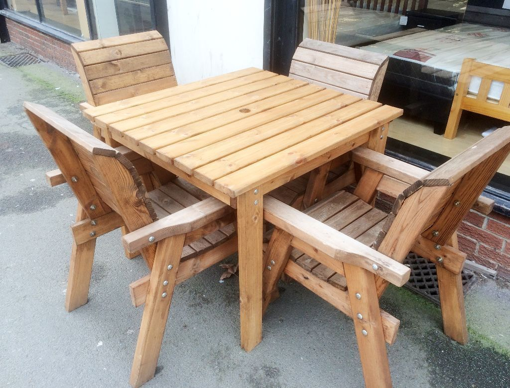 Garden Table And Chairs Charles Taylor Outdoor Patio Solid Wood Garden