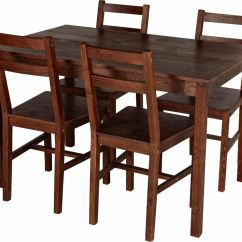 Solid Wood Dining Table And Chairs Gaming Chair Dxracer Uk Home Raye 4 Dark Pine