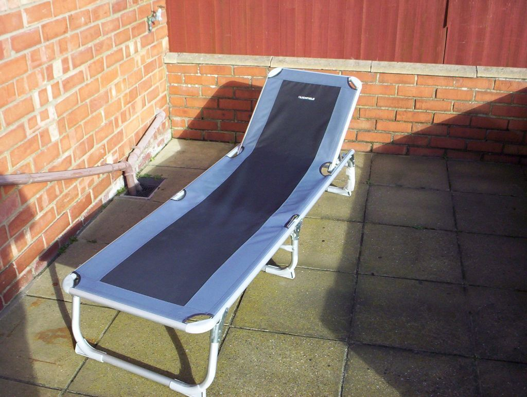 fishing chair second hand rooms to go sleeper lichfield lounger garden sunbathe relaxing