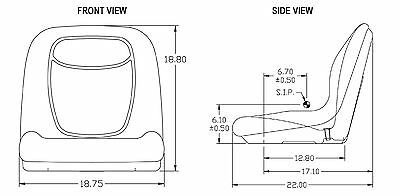 HIGH BACK SEAT for Toro Workman MD HD Series 2100 2300