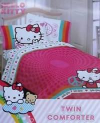 Hello Kitty Peace Twin Comforter Sheets 4pc Bedding Set ...