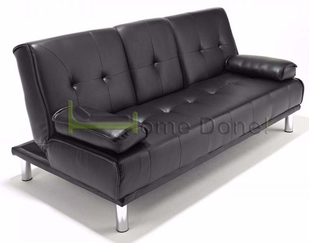 sofa bed next day delivery london living room design 2018 manhattan click clack leather sofabed same