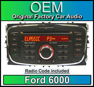 Ford 6000 CD player, Ford Focus car stereo headunit with