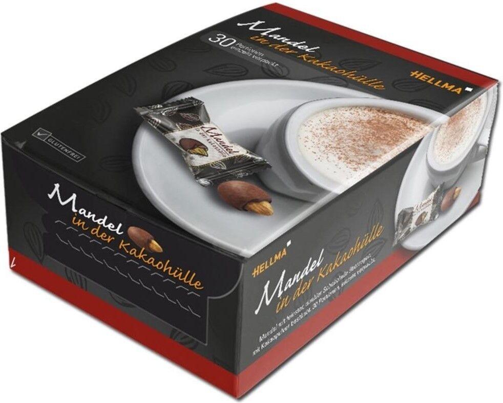 (100g=3,60€) Hellma Mandeln in Kakaohülle Zartbitter Schokolade Kaffee 30 Stück