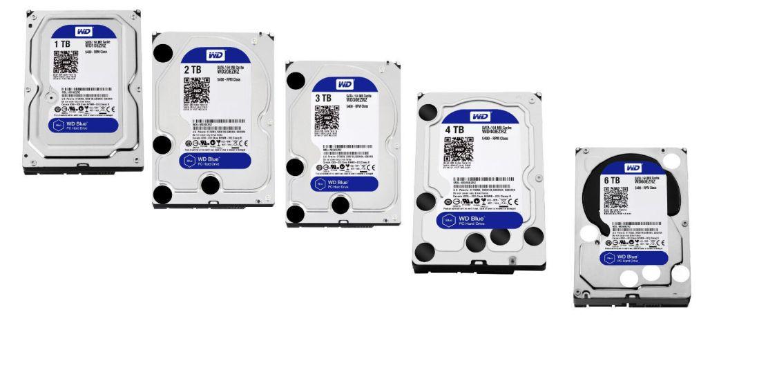 "interne Festplatte / HDD WD Blue 8,9cm (3,5"" Zoll ) 1TB, 2TB, 3TB, 4TB, 6TB SATA"