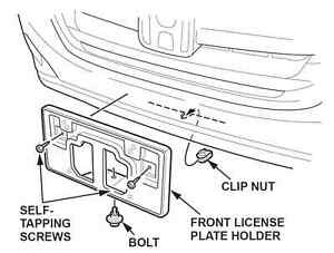 Service manual [How To Attach Front License Plate On A