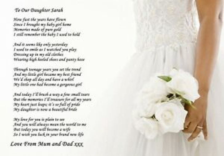 A Letter To My Daughter On Her Wedding Day