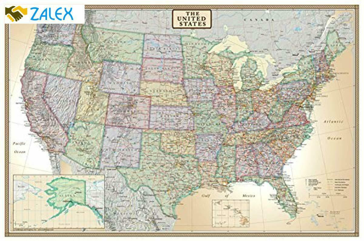 When you want to get out and really see the country, flying just isn't going to cut it. Home Decor Garden Poster Wall Map Of The United States Usa Road Travel Large Big Map Hanging Laminated