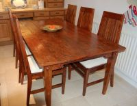 Rustic Distressed Hardwood Table and 6 Chairs - can seat 8 ...