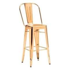 Steel Chair Gold Mexican Painted Chairs Zuo Modern Elio Bar In 108062 Ebay Stock Photo