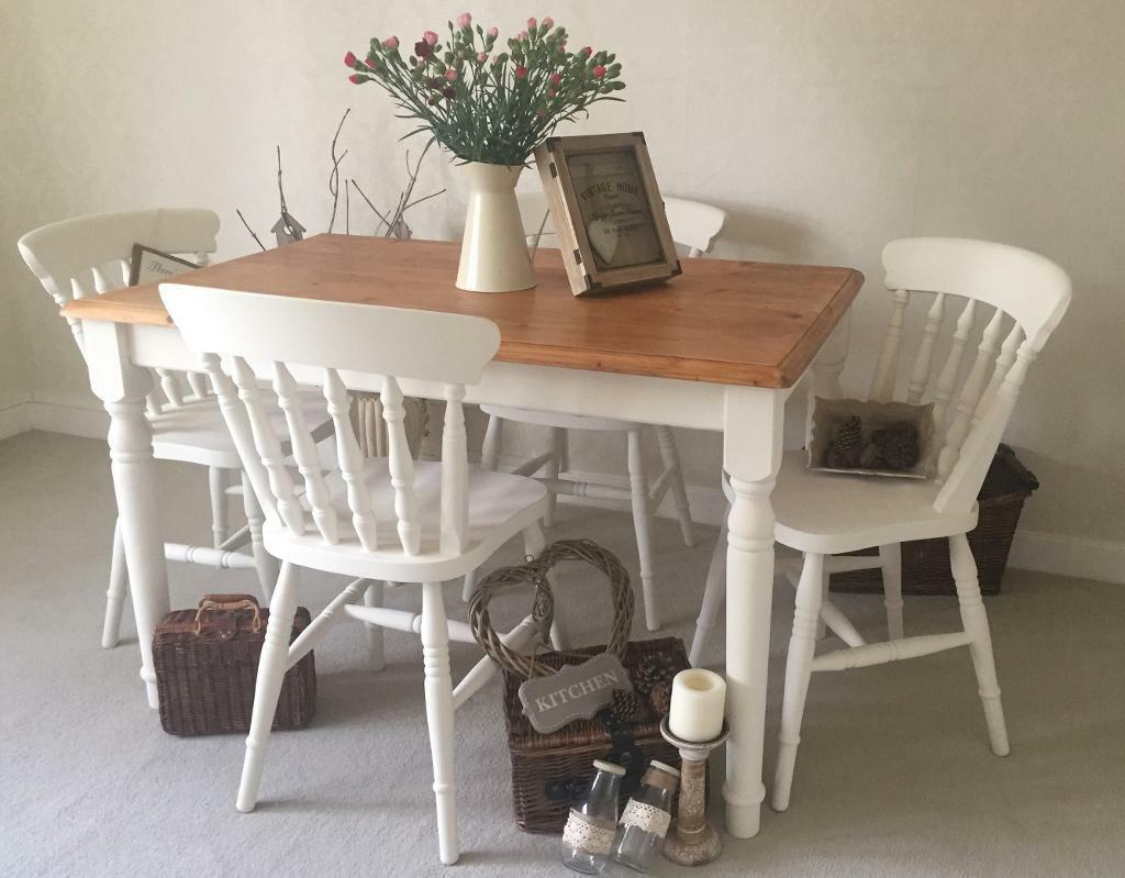 Farmhouse Table And Chairs Set Shabby Chic Farmhouse Table And Chairs Kitchen Dining