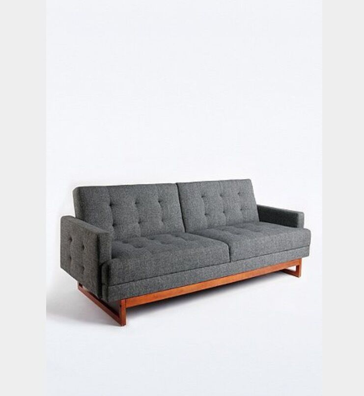 corner sofa bed east london leather sectional urban outfitters mid century modern vintage style ...