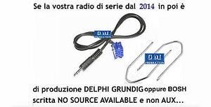 KIT cavo aux Fiat Qubo e 500 dal 2015 radio Bosch