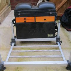 Fishing Chair Base Diy Bean Bag Fox Tackle Box With Pole Seat In Plymouth