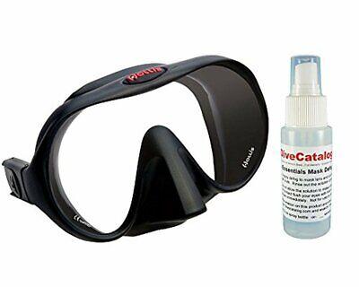Hollis M-1 Frameless Scuba Diving Mask w/ Mask Defog Spray