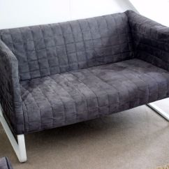 Solsta Sofa Bed Ransta Dark Gray 169 00 Dfs Caress Fabric Corner Lightweight Ikea Loveseats Thesofa