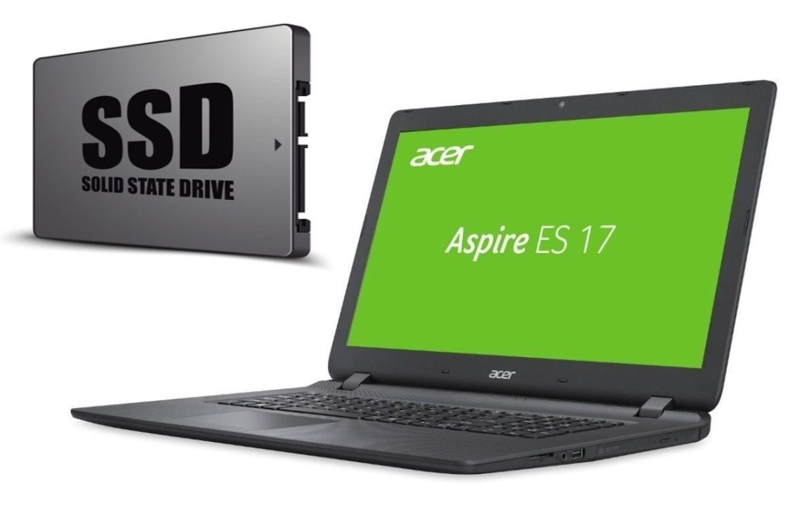 NOTEBOOK ACER ES1-732 - BIS 1000GB SSD - 17 ZOLL WXGA - WINDOWS 10 PRO - WEBCAM