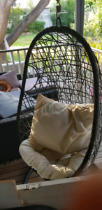 hanging chair mitre 10 revolving cream egg garden gumtree australia free local classifieds