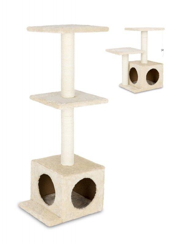 animal-design Katzen Kratzbaum klein & stabil beige Sisal Höhe 61 cm oder 97 cm