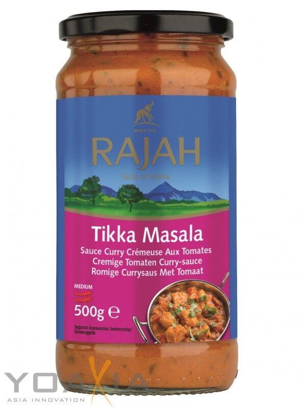 (5,98€/1kg) [ 500g ] RAJAH Tikka Masala, Cremige Tomaten Currysauce mittelscharf