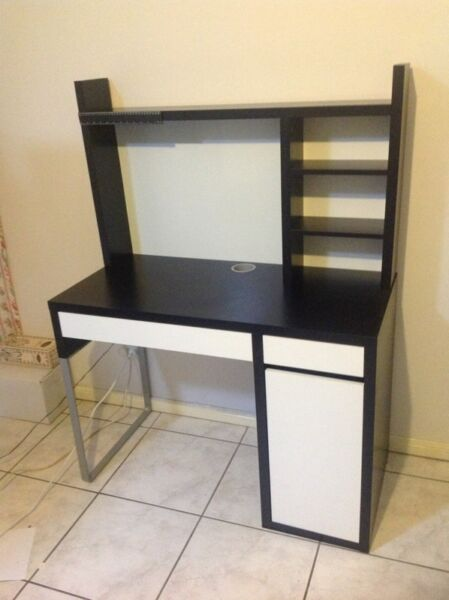 Student desk with drawers whiteboardmagnetic pinboard