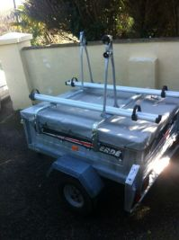 Trailer with cover, roof bars and cycle racks | in Looe ...