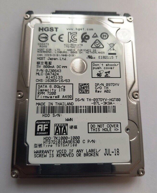 HGST 1 TB Festplatte SATA III 7200 RPM 32 MB 2,5 Zoll Notebook HTS721010A9E630