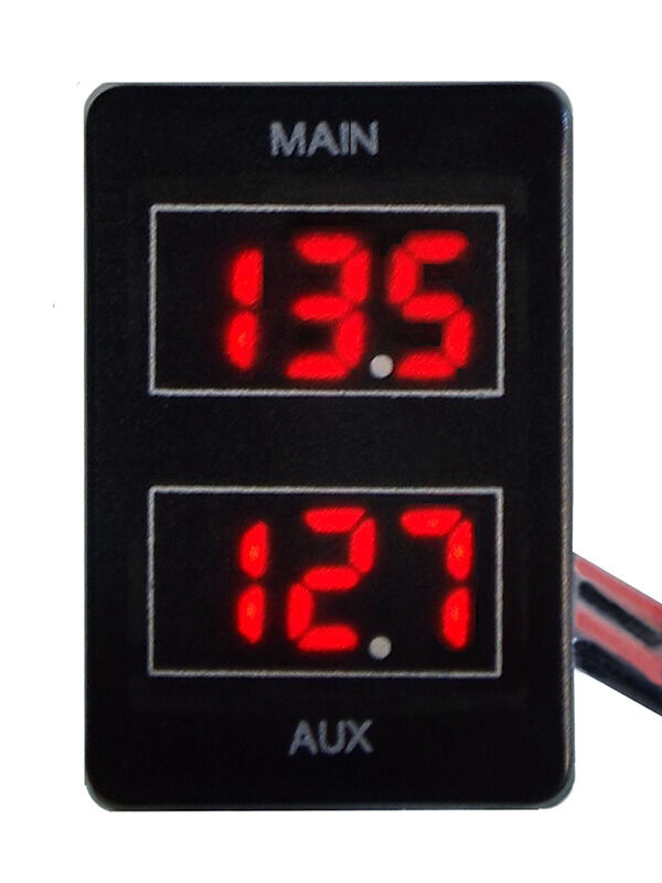 30 Amp Wiring Gauge Dual Battery Volt Meter For Toyota Prado 150 Landcruiser