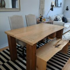 Live Edge Kitchen Table Kids Step Stool Dining Kijiji In Ontario Buy Sell Save With Wood And Bench Plus Two Chairs