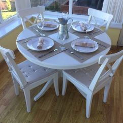 Drop Leaf White Kitchen Table Mini Island Ikea Ingatorp Extendable Round Dining Room And ...