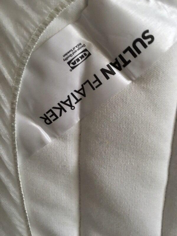 Ikea Sultan Flataker Single Mattress
