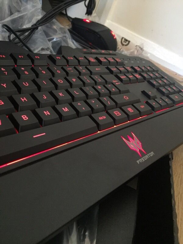 Acer Predator keyboard and mouse set NEW   in
