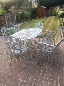 cast iron garden furniture patio