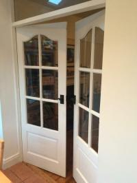 Solid wood french doors | in Ormeau Road, Belfast | Gumtree