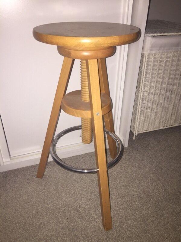 wicker ladder back chairs car chair covers walmart wooden artist stool adjustable | in stoke gifford, bristol gumtree