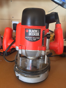 Black And Decker 1 3 4 Hp Plunge Router