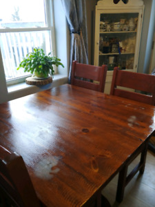wooden kitchen tables counter bar table buy and sell furniture in belleville kijiji solid wood