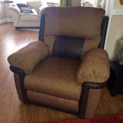 Leather Sofa Brown Dfs Grey Red Carpet Tetris Electric Recliner 3 Seater Couch & Chair | In ...
