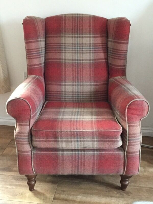 Pair of Next Sherlock Chairs in Stirling Red Fabric  in