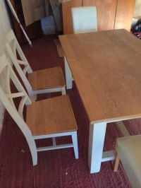 Shabby Chic kitchen table and 6 chairs | in New Ollerton ...