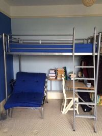 John Lewis bunk bed unit with attached desk and single ...