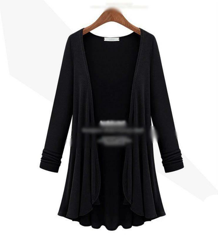 Long Black Cardigan Coat  eBay