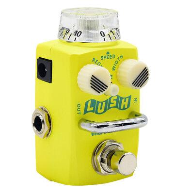 Hotone Skyline Guitar Pedal LUSH Flanger Yellow Stomp box 9V DC