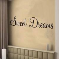 SWEET DREAMS wall art sticker bedroom decor large | eBay
