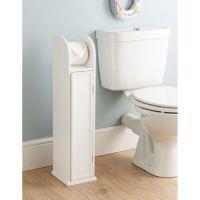 Standing Wooden Bathroom Toilet Paper Roll Holder Cabinet ...